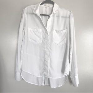 Cloth & Stone   White Button Down Blouse, S